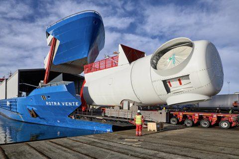 Ro-Ro Vessel The Rotra Vente Windturbine Transport Vessel