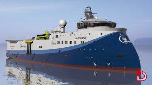 Ulstein SX124 WesternGeco 3D Shipdesign