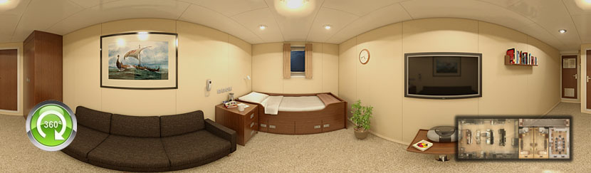 VR Virtual Tour Cabins Vessel