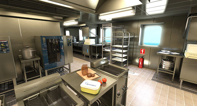 VR Vessel Kitchen Interior