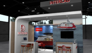 Intercad stand at Europort exhibition